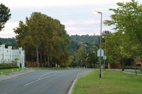 Bryanston Drive at sunset.