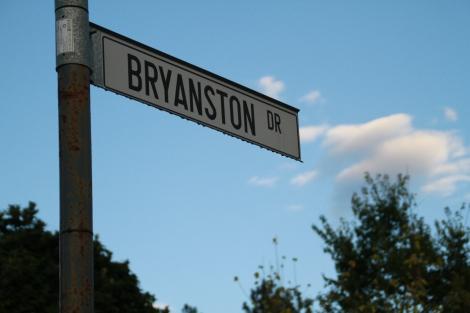Bryanston Drive sign.